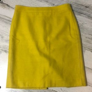 J Crew The Pencil Skirt Neon Green 4 Lined